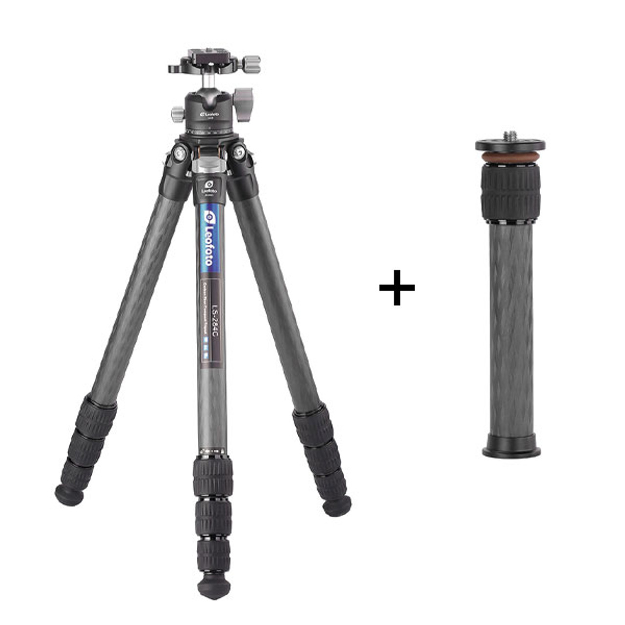 Leofoto LS-284C+LH-30 28mm 4-Section Carbon Fiber with LH-30 Ball Head & Centre Column