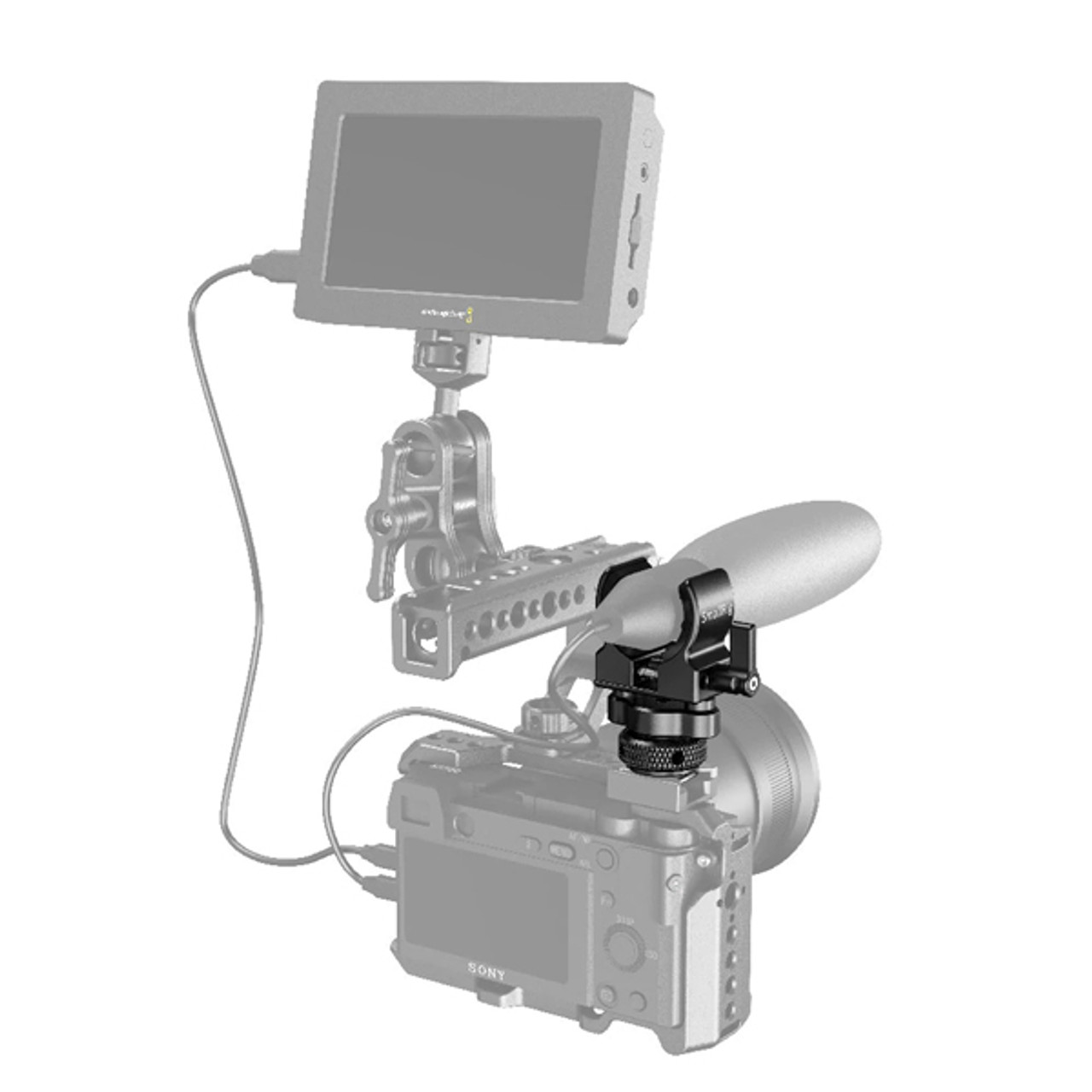 SmallRig Shotgun Microphone Holder (Cold Shoe) (BSM2352)