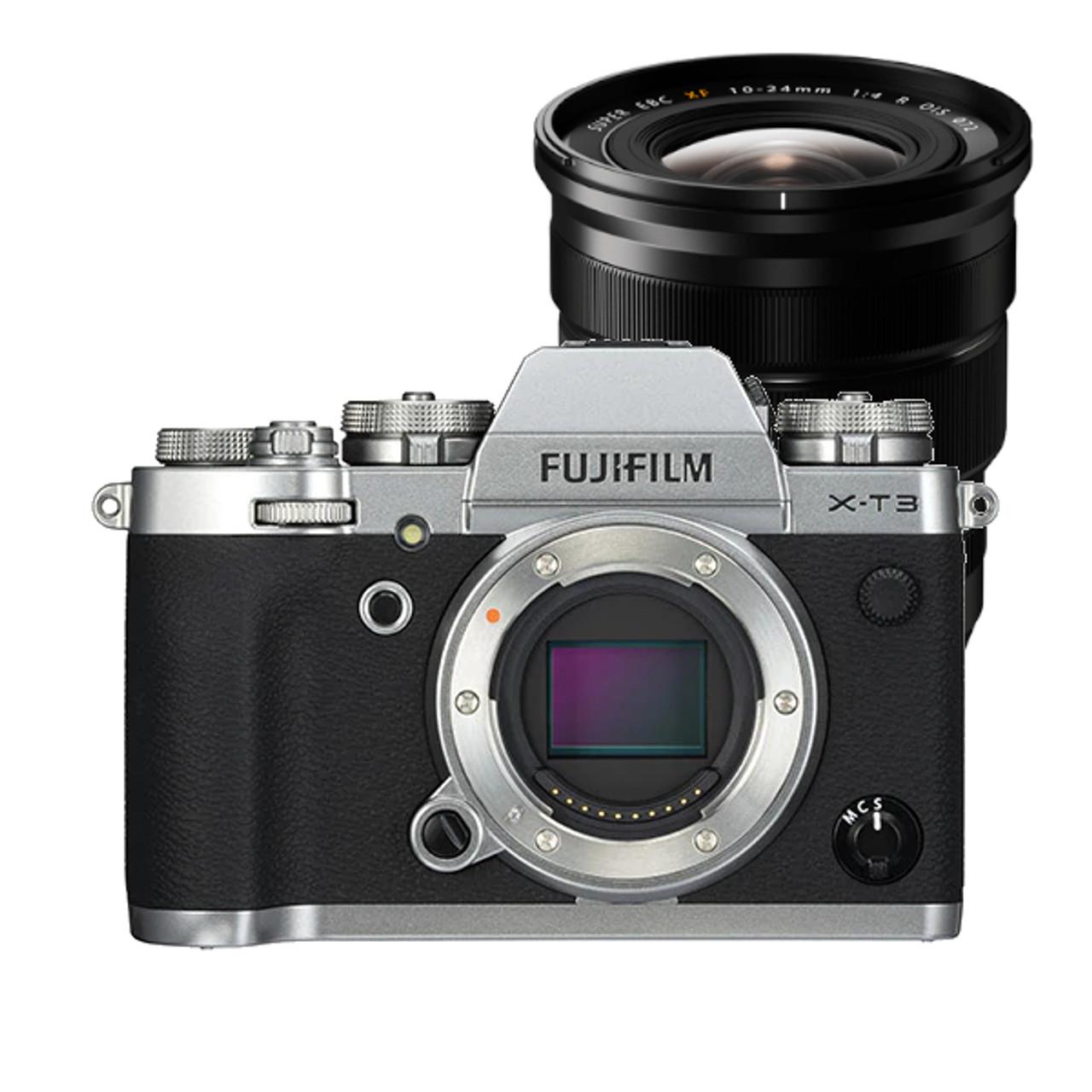 Fujifilm X-T3 Body (Silver) w/ XF 10-24mm f4