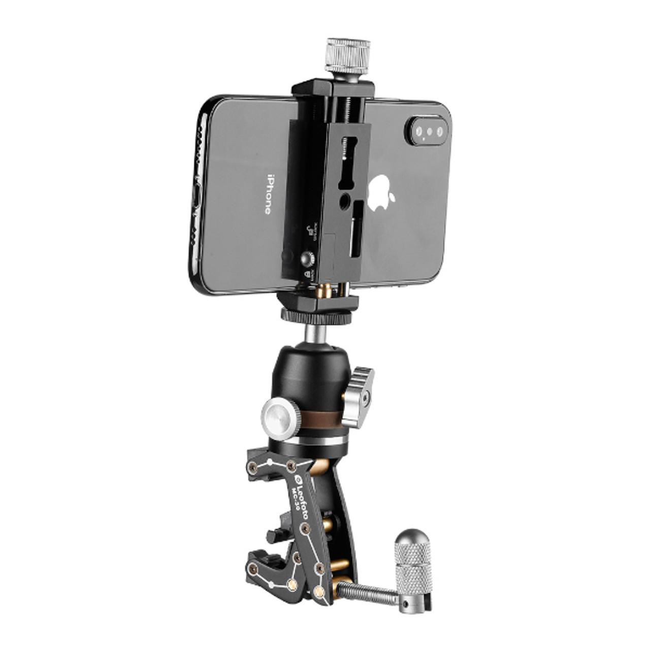 Leofoto MC-30 Multipurpose Clamp Kit (w/ MBH-19 Micro Ball Head & PC-90 Smartphone Clamp)