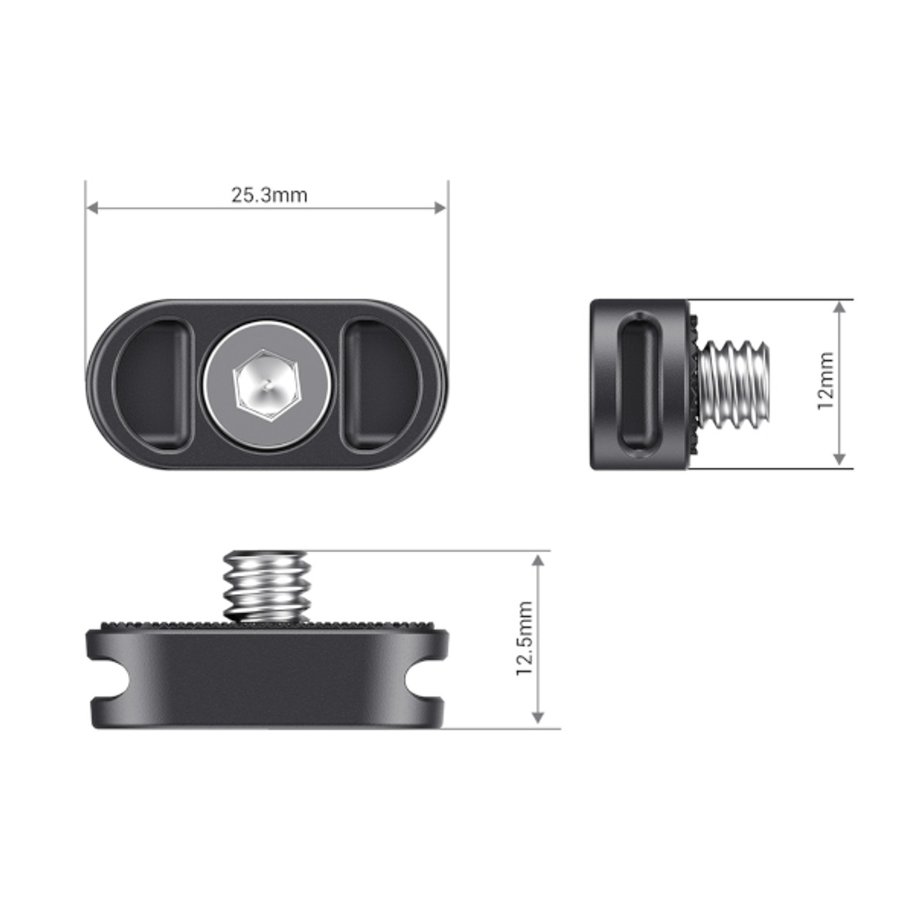 SmallRig Mini Plate for Gimbal Shoulder Strap (2 PCS)