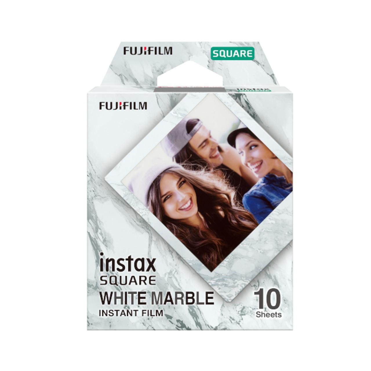 Fujifilm Instax Square Film - 10 EXP (White Marble)