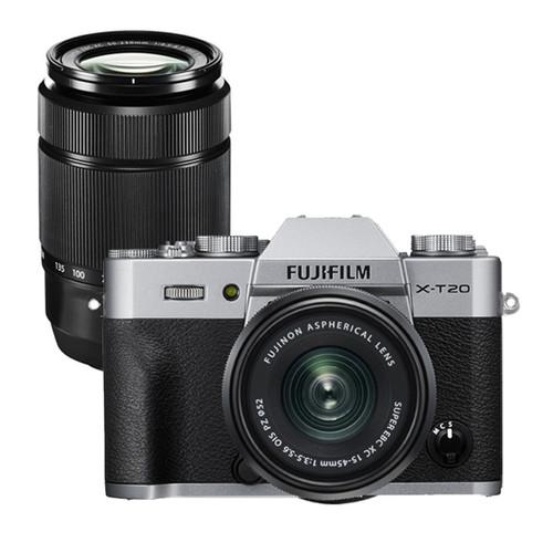 Fujifilm X-T20 15-45mm PZ Kit Silver w/ XC 50-230m F4.5-6.7 OIS II