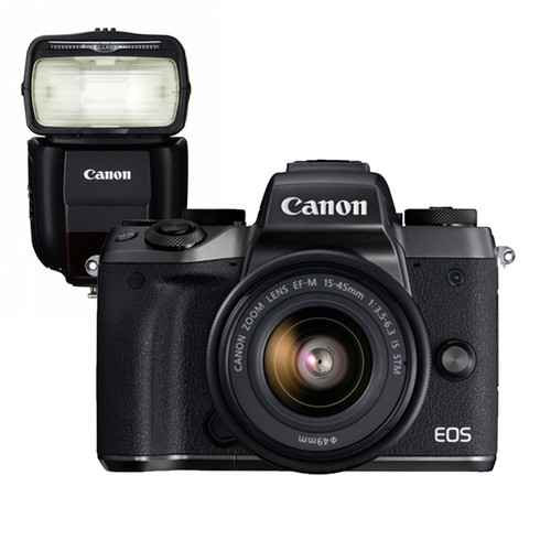 Canon EOS M5 15-45mm Kit & Canon 430EX III-RT Speedlite Flash
