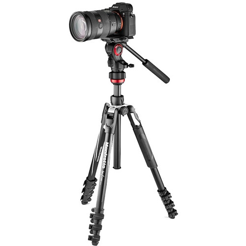 Manfrotto BeFree Aluminum Tripod w/Lever Locks + MVH400AH Fluid Head
