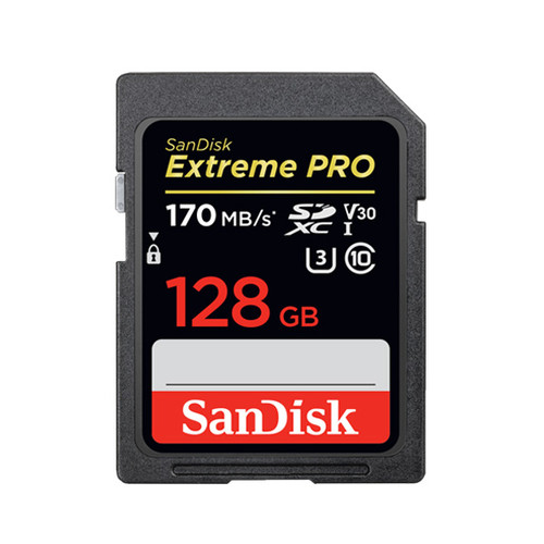 Sandisk Extreme Pro 128GB UHS-1 SDXC V30 170/90MB/s  SD Card