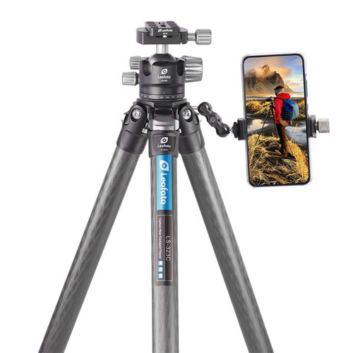 Leofoto LS-323C+LH-40 32mm 3-Section Compact Carbon Fiber Tripod with Ball Head