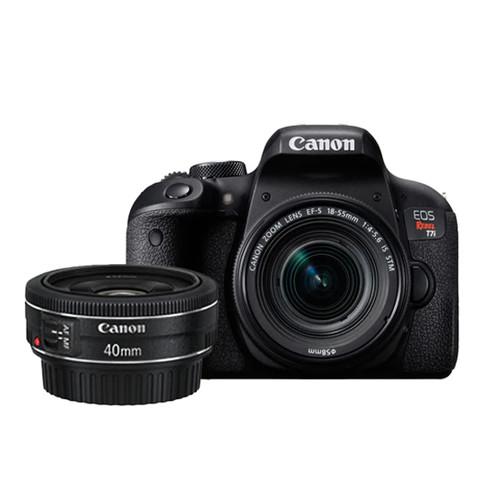 Canon EOS Rebel T7i 18-55mm IS STM Kit & EF 40mm f2.8 STM