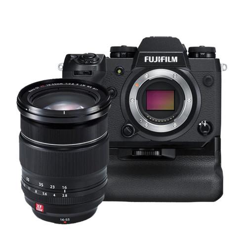 Fujifilm X-H1 Vertical Power Booster Kit (Black) & XF 16-55mm Lens