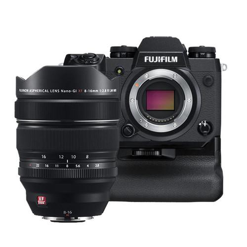 Fujifilm X-H1 Vertical Power Booster Kit (Black) & XF 8-16mm Lens