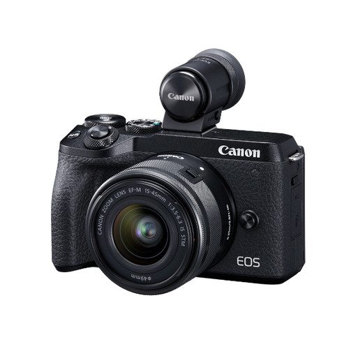 Canon EOS M6 MKII 15-45mm EVF (Black)