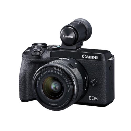 Canon EOS M6 MKII 15-45mm EVF (Black)