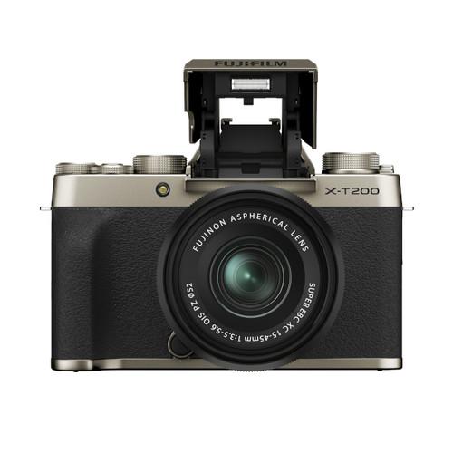 Fujifilm X-T200 XC 15-45mm F3.5-5.6 Kit (Champagne Gold)