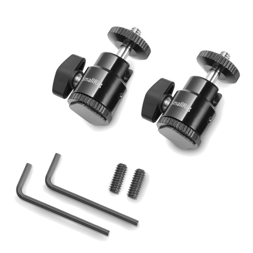 """SmallRig 1/4"""" Camera Hot shoe Mount with Additional 1/4"""" Screw (2pcs Pack)"""