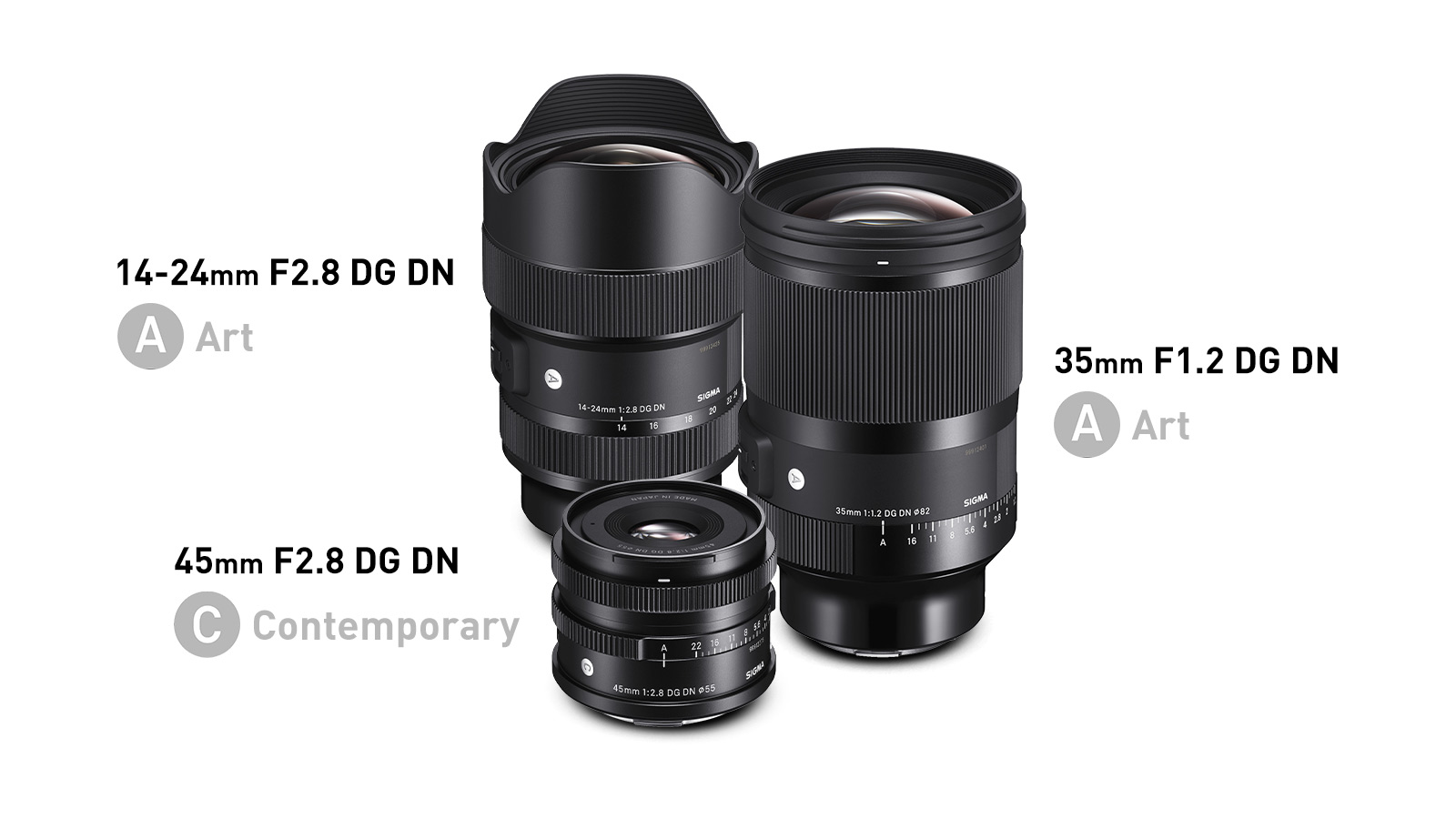 Sigma Announces 35mm F1.2, 14-24mm F2.8, and 45mm F2.8 for Full-Frame Mirrorless