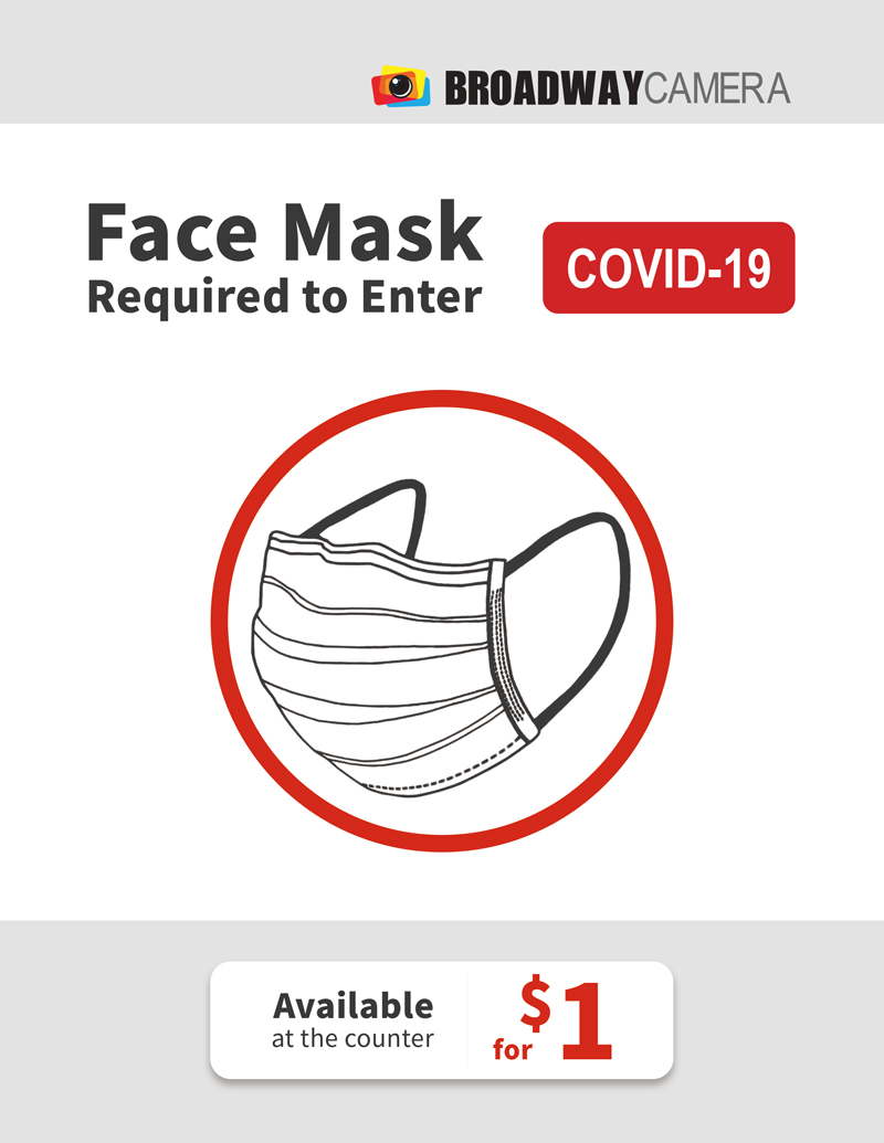 face mask required in-store