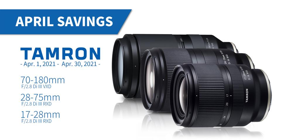Tamron April Savings
