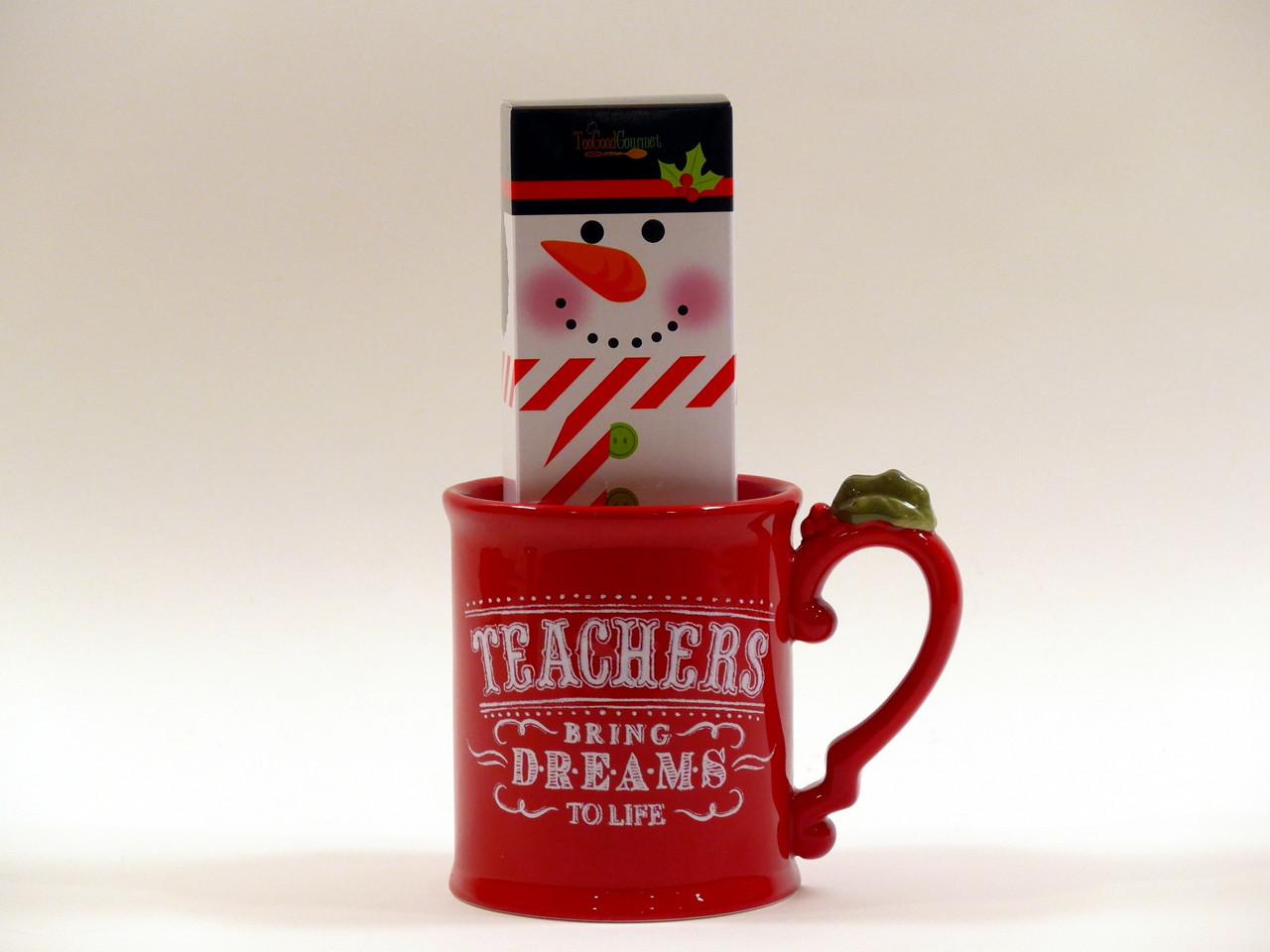 Teacher Christmas Gifts.Teacher Christmas Mug Gift Set