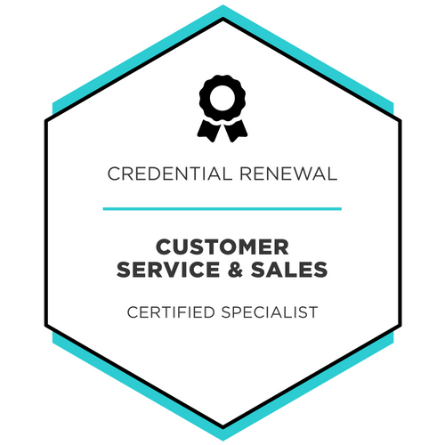 Customer Service & Sales - Credential Renewal