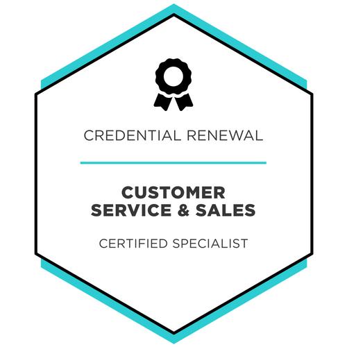 Customer Service & Sales - Credential Renewal