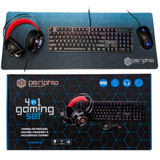 Periphio Quattro 4-in-1 PC Gaming Starter Kit (Black)