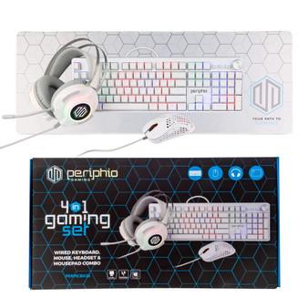 Periphio Quattro 4-in-1 PC Gaming Starter Kit Box (White )