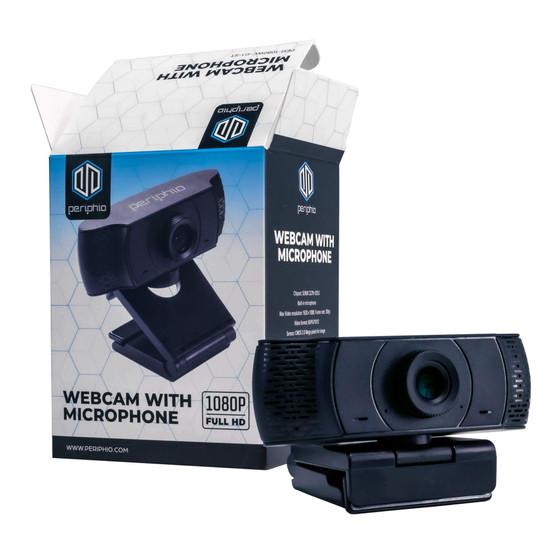 Periphio 1080P Full HD Webcam for Gaming PC