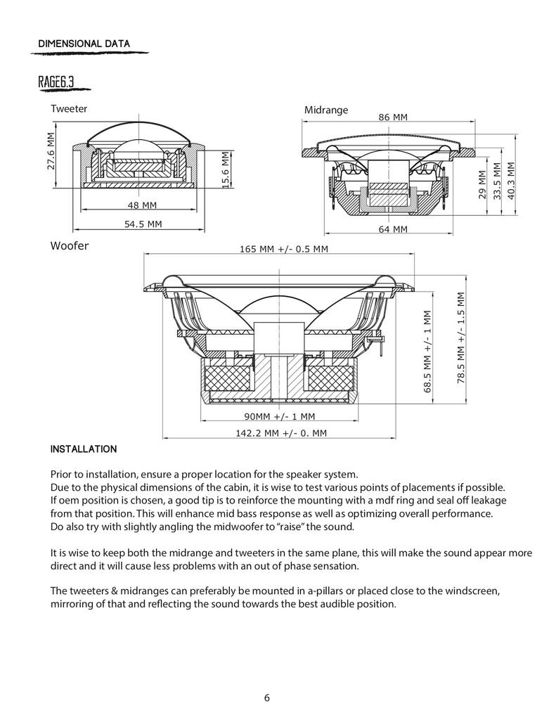 B2 Audio Rage 6.3 (3 Way Set)