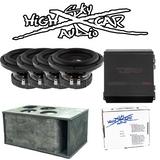"DS18 Package Deal: (4) SLC 8""s, FRX1K, Gately Box, and 4GA Amp Kit"
