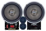 "SHCA 65C2E 2 Way 6.5"" Component Set 4 ohm (Ferrite Motors, Silk Dome)"