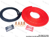OFC 4 ga Battery Cable Relocation Kit Red/ Black