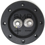 "SMD 1 Channel Heavy Duty Speaker Terminal (Stainless) (3/4"" PVC Black) (Round)"