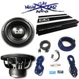 """DC Audio Package: (2) Level 2 12"""" D4, 1.2K amp & 4 GA Sky High Amp Kit"""