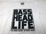 Basshead Life Clothing Men's Box Logo White/Black