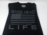 Basshead Life Clothing Men's Flag Charcoal Heather/Grey