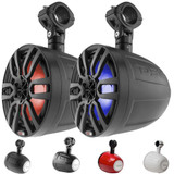 "DS18 NXL-6UTV HYDRO 6.5"" SLIM WAKEBOARD POD TOWER SPEAKER WITH INTEGRATED RGB LED LIGHTS 300 WATTS (PAIR)"