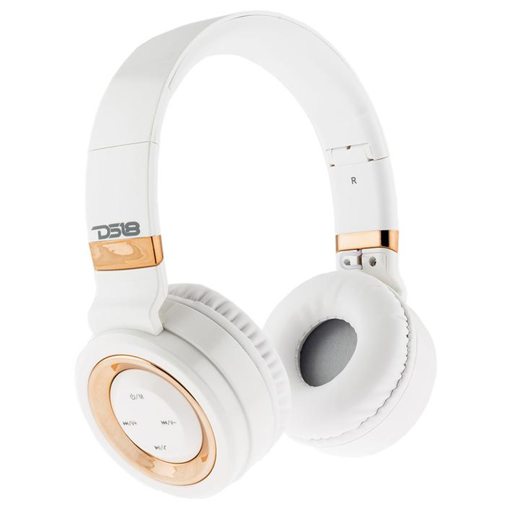 Over Ear Foldable Noise Cancelling Bluetooth Headphone With Microphone White Sky High Car Audio