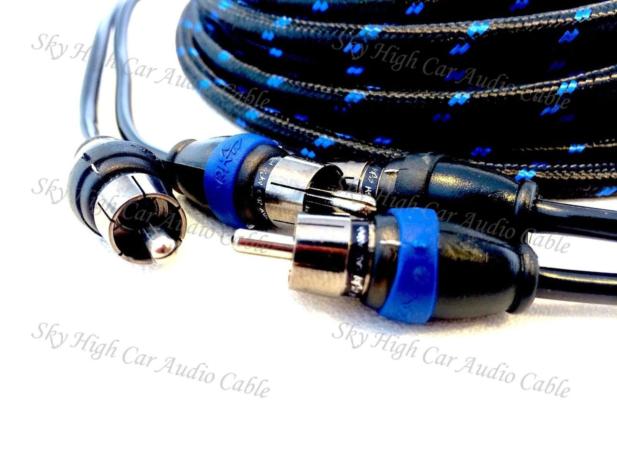 18 Foot Triple Shielded Twisted RCA Cables Car Amp RCAs Premium 2 Channel Audio