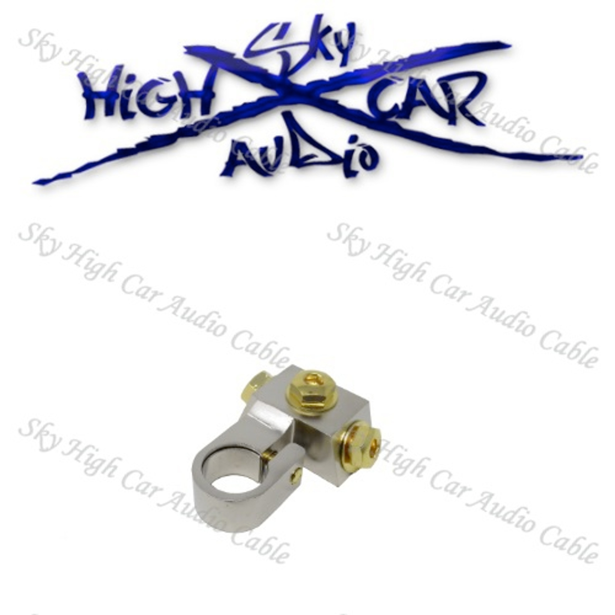 Sky High Car Audio SAE Battery Terminal W/3 RT Connections - Sky High Car  Audio