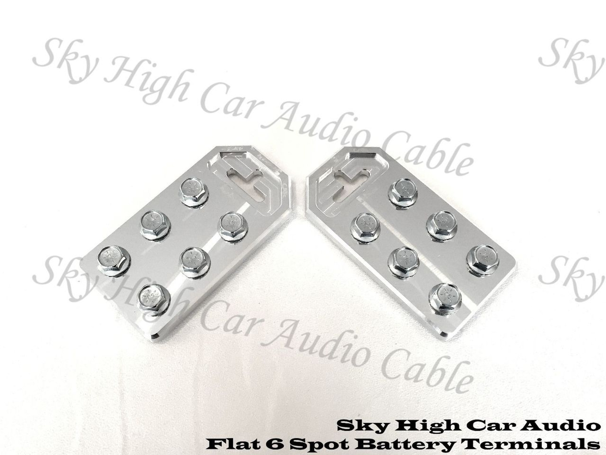 4 Spot Flat BATTERY TERMINALS BOLT USE ONLY Pair of Copper Sky High Any GA