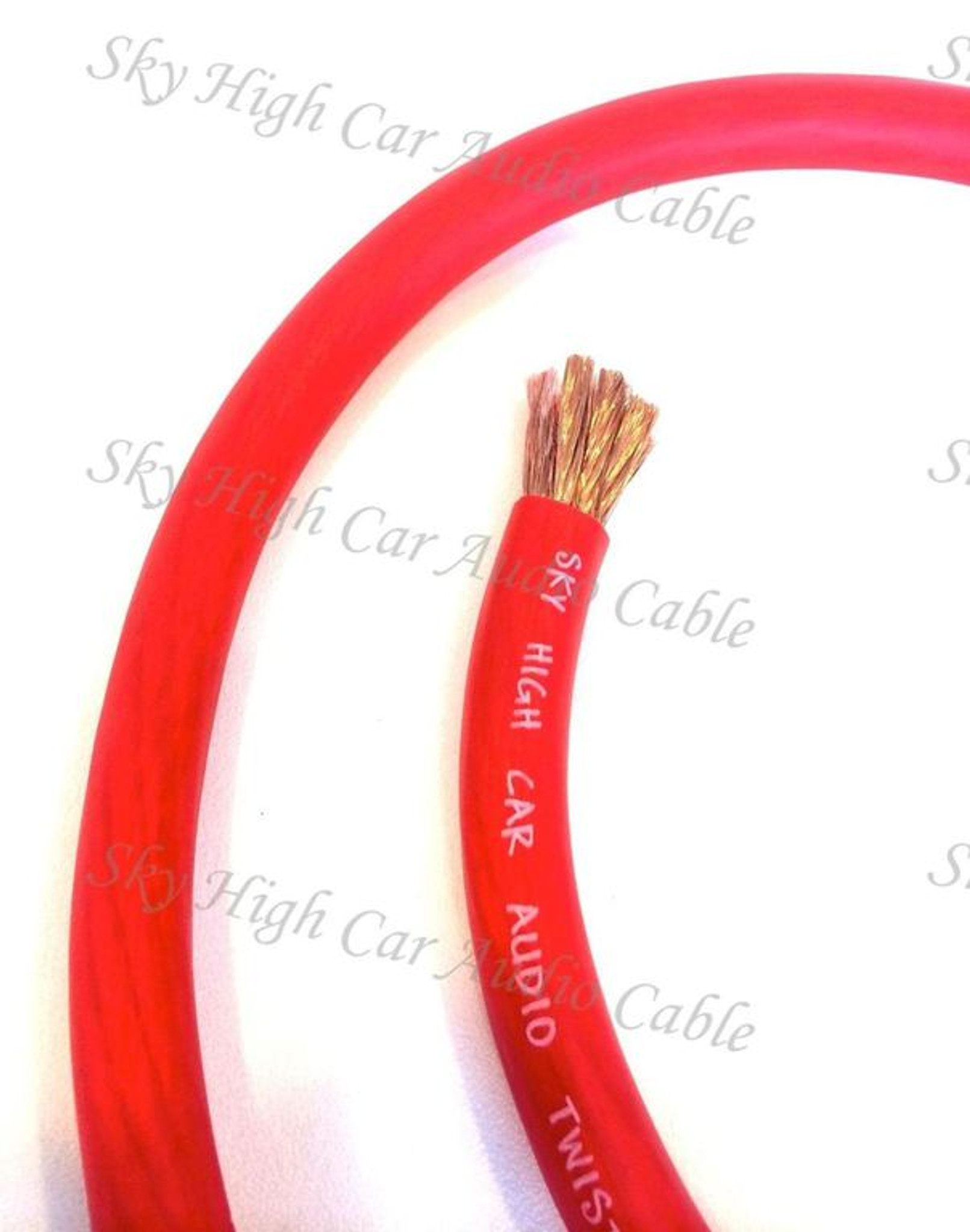 10 ft OFC 1//0 Gauge Oversized SILVER Power Ground Wire Sky High Car Audio