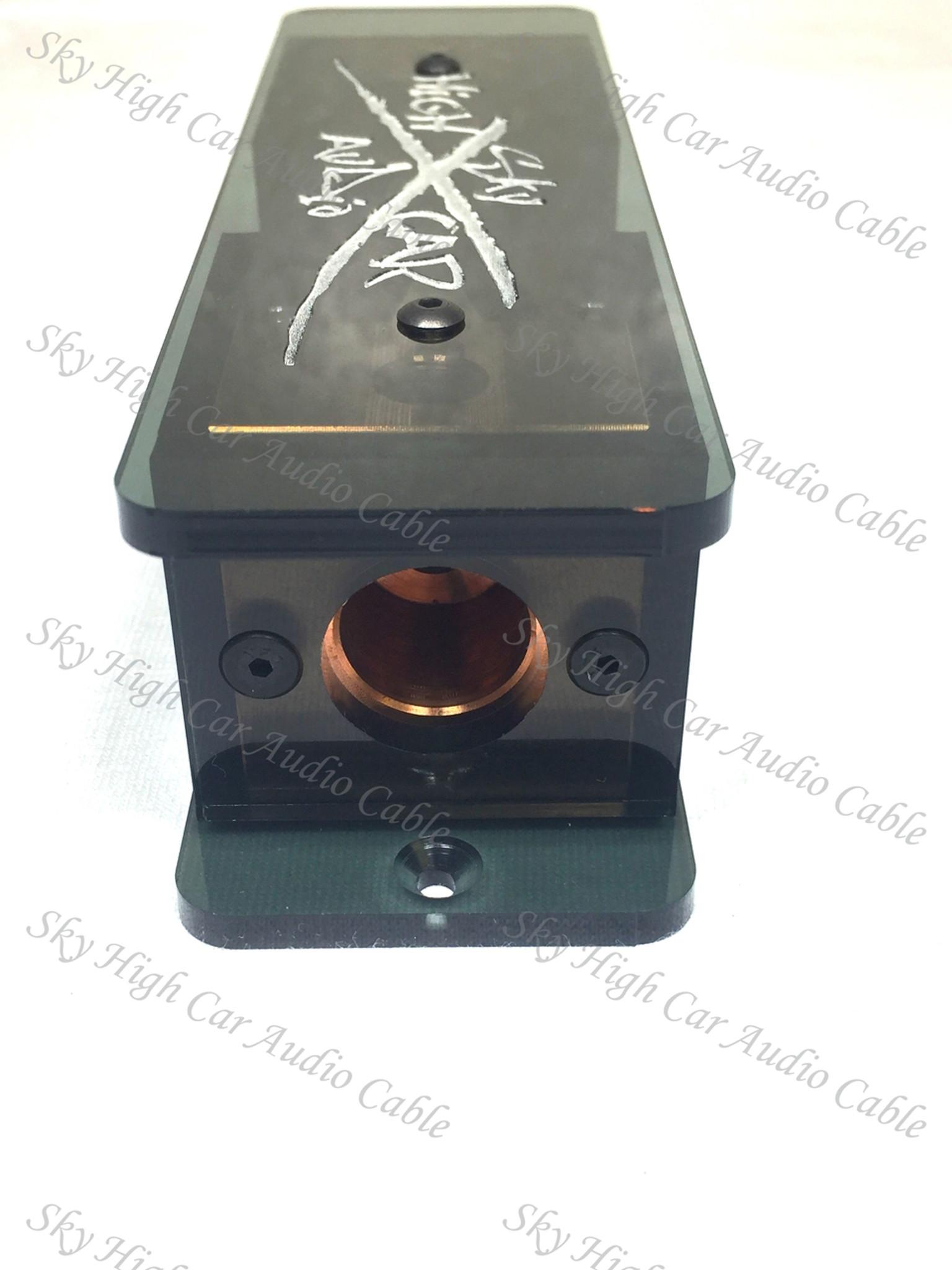 350A Fuse Sky High Car Audio Dual Ring Terminal Fuse Holder W// 2 Fuses