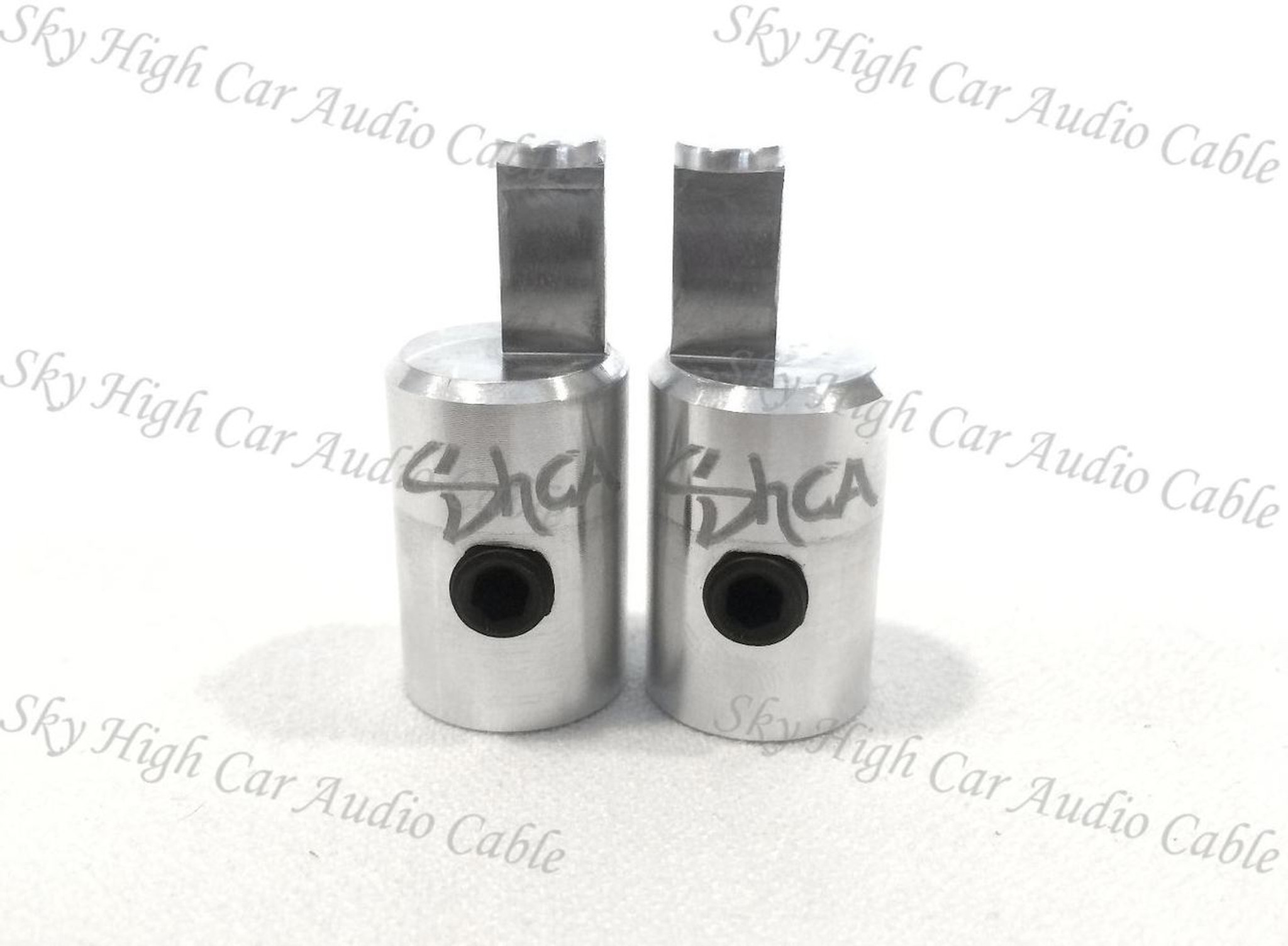 Pair Of Dual 8 Gauge to Single 8 Gauge Amplifier Speaker Inputs