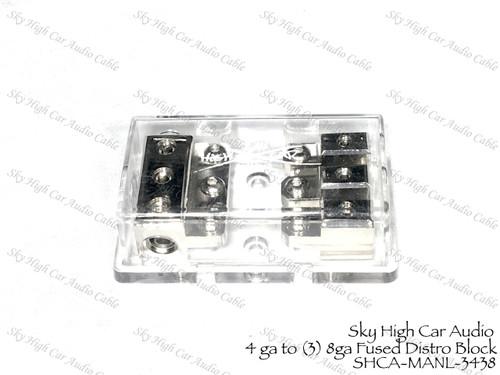 4 ga Output  Distribution Block Car Audio Distro SHCA-DB-1044 1//0 ga input 4