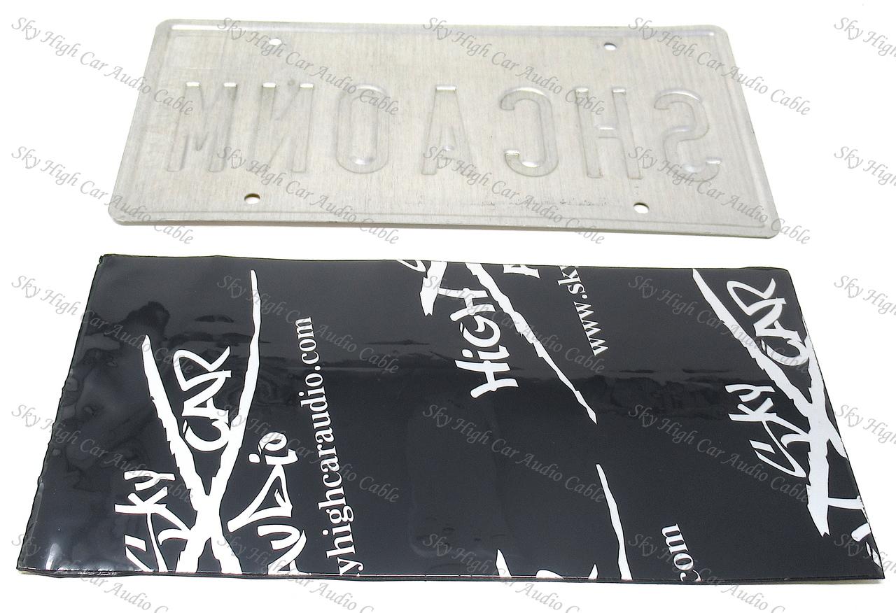 Sky High Car Audio 80Mil Sound Deadener License Plate