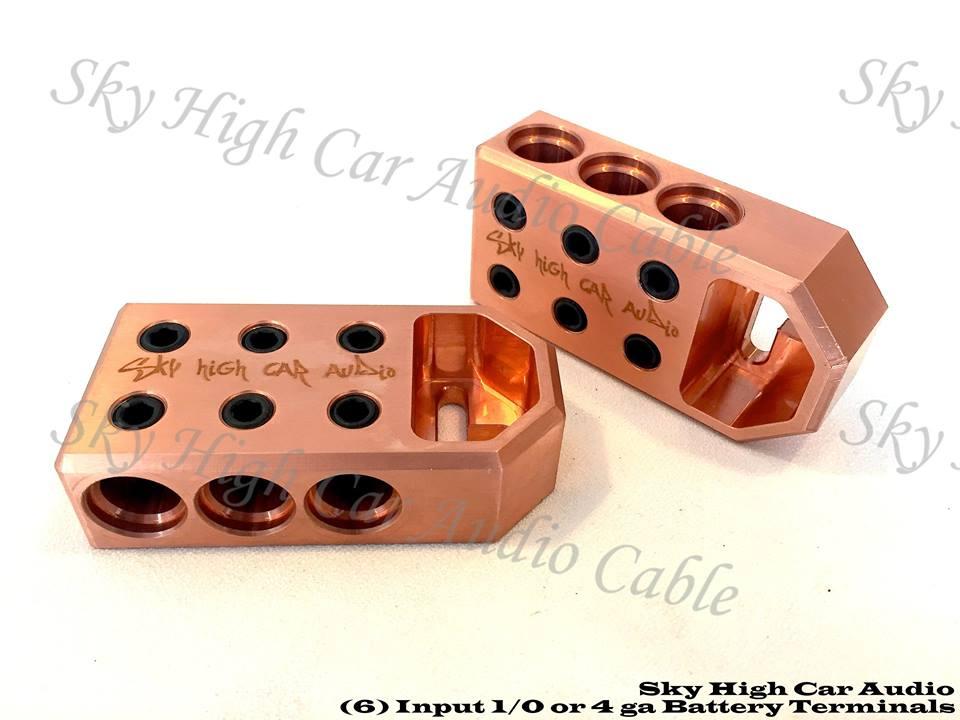 Copper Sky High Car Audio 6 1 0 Copper Battery Terminals