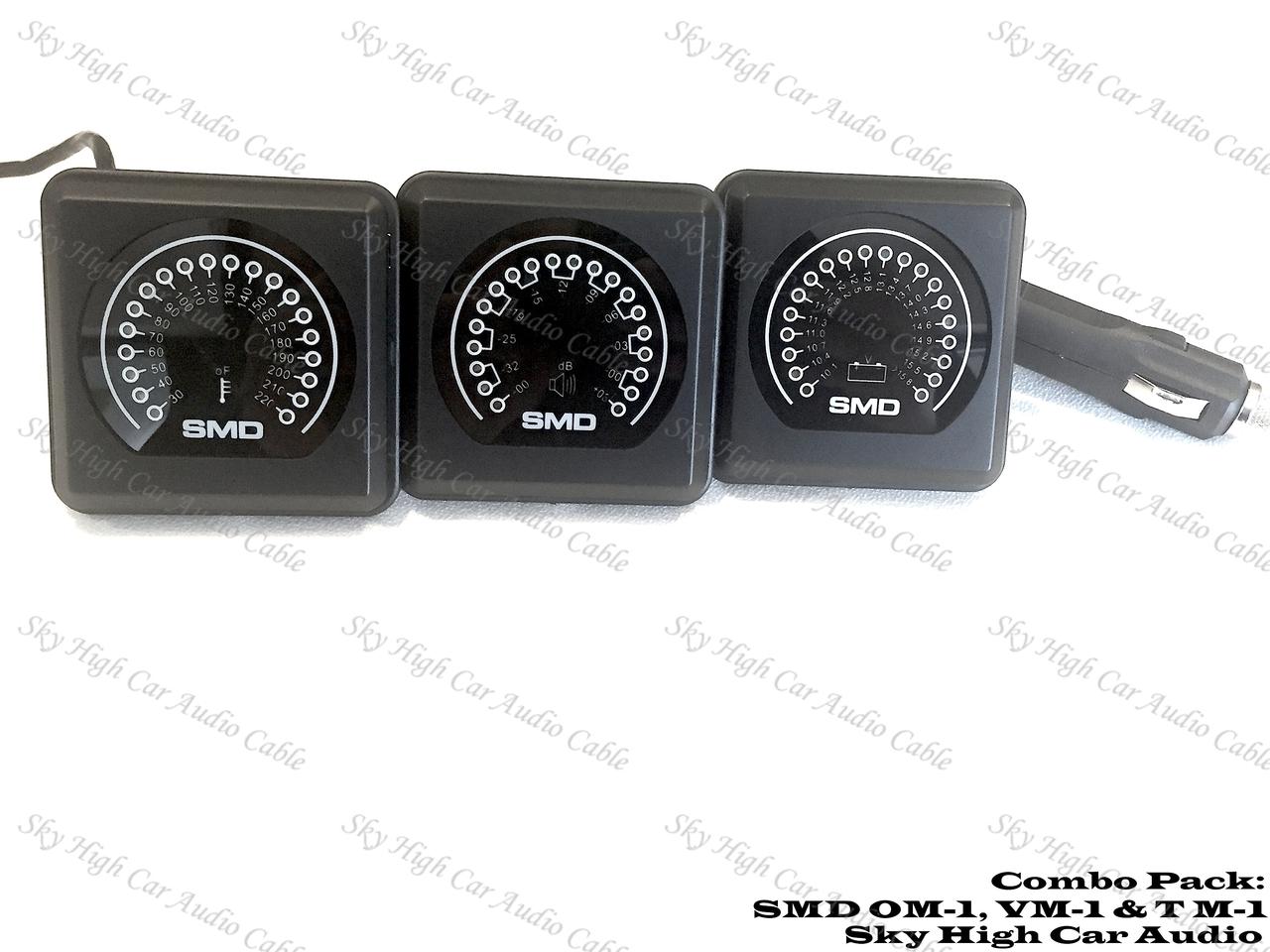 SMD Combo Pack VM-1 Volt Meter, OM-1 Output Meter & T M-1F Temp Sensor Fan Controller