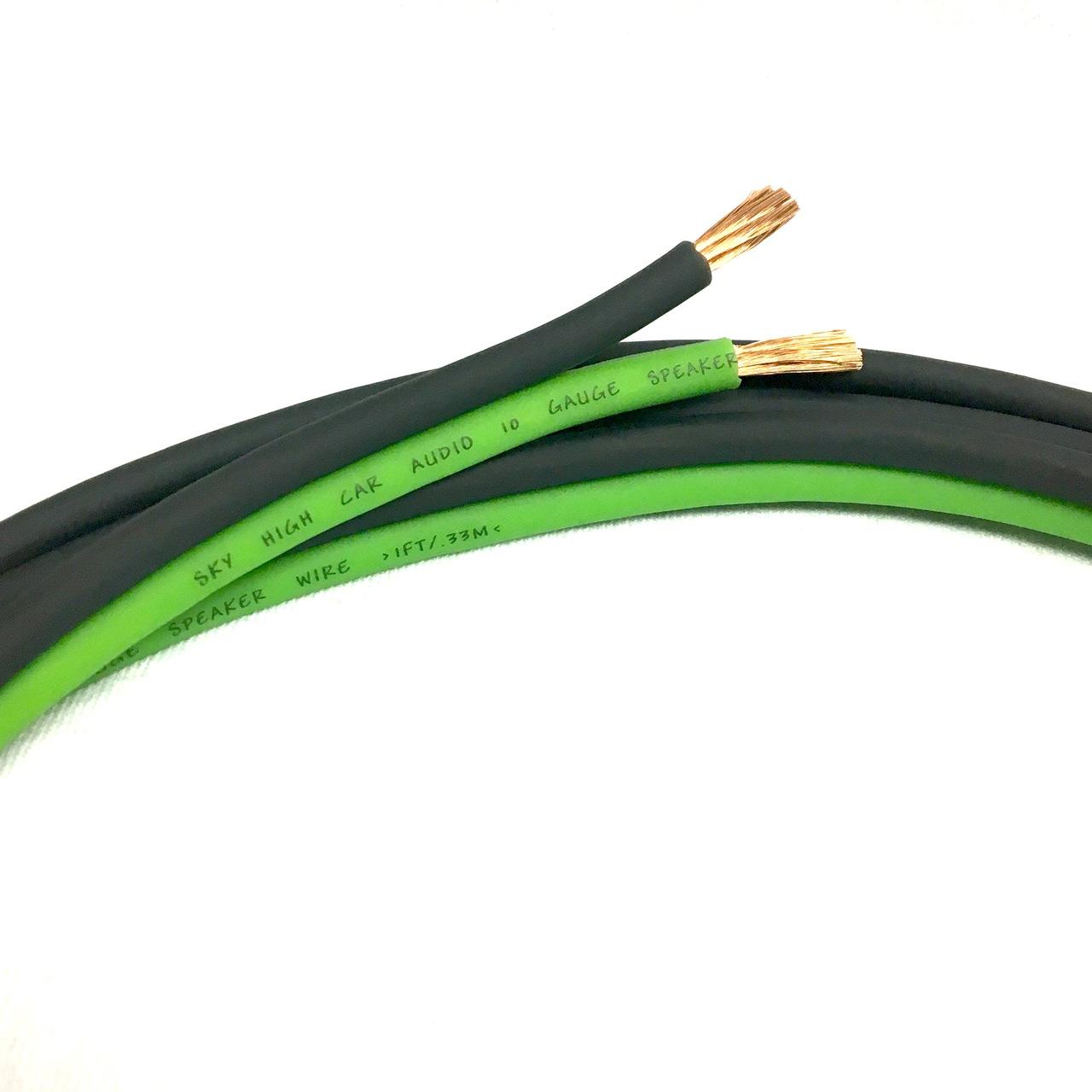 Sky High Car Audio CCA 10 Gauge Speaker Wire 1ft-200ft