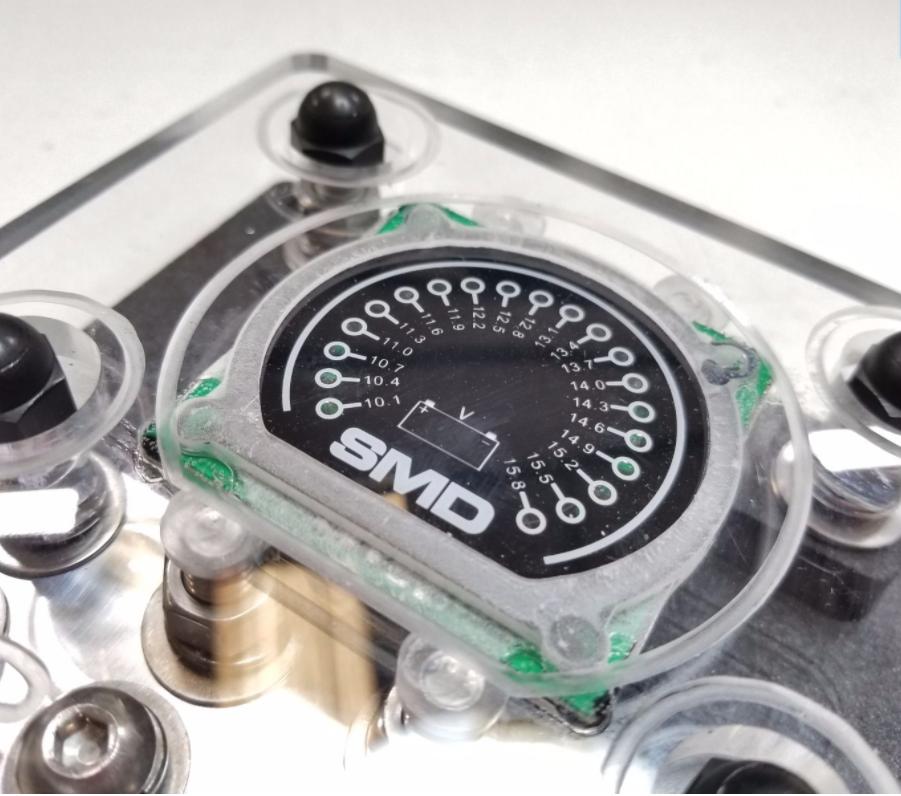 SMD Quad XL ANL Fuse Block Cover W/ Integrated SMD VM-1 Volt Meter