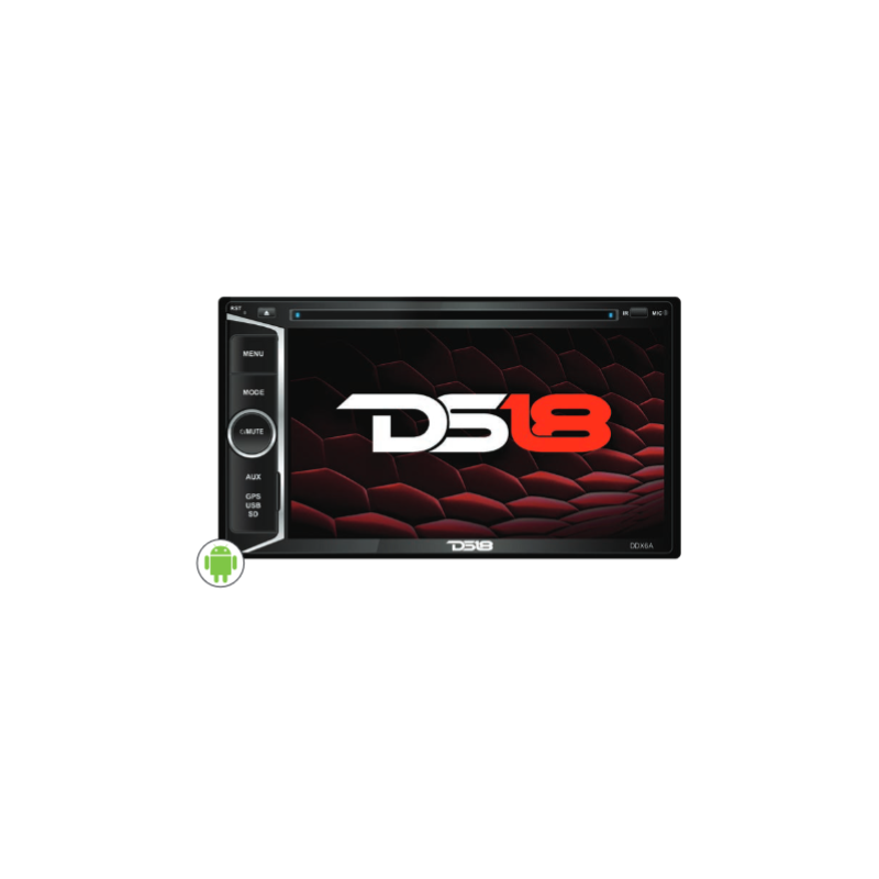 DS18 DDX6A 6.2″ DOUBLE DIN DVD PLAYER WITH ANDROID 6.0 OS